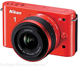 Nikon 1 J2 Mirrorless Digital Camera with VR 10-30mm f/3.5-5.6 Lens (Orange)