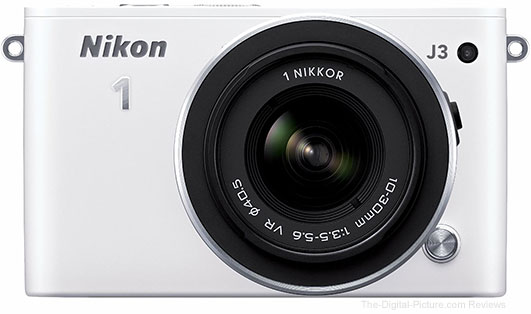 Refurbished Nikon 1 J3 Digital Camera with 10-30mm VR Lens (White) - $179.00 Shipped (Reg. $229.00)