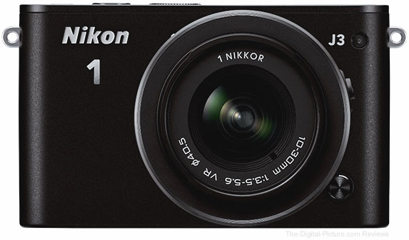 Refurbished Nikon 1 J3 with 10-30mm VR Lens (Black)