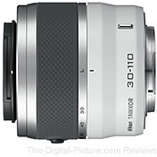 Refurbished Nikon 1 30-110mm f/3.8-5.6 VR Nikkor Lens (White)