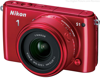 Nikon 1 S1 Mirrorless Camera with 11-27mm Lens (Red)
