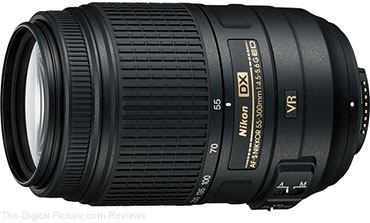 Nikon AF-S NIKKOR 55-300mm f/4.5-5.6G ED VR Lens - $199.00 (Compare at $396.95)