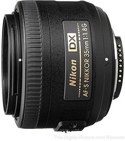 Nikon AF-S 35mm f/1.8G DX Nikkor Lens + Lightroom 5 - $196.95 Shipped