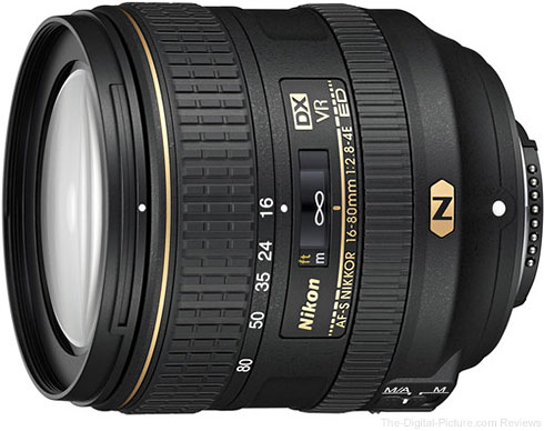 Nikon AF-S NIKKOR 16-80mm f/2.8-4E ED VR DX  Lens In Stock at B&H