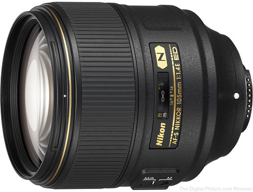 Nikon AF-S NIKKOR 105mm f/1.4E ED Lens In Stock at B&H
