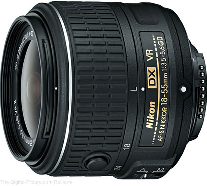Nikon AF-S NIKKOR 18-55mm f/3.5-5.6G VR II DX Lens In Stock at B&H