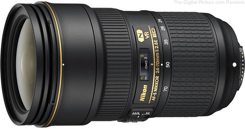 Nikon AF-S 24-70mm f/2.8E ED VR Lens In Stock at B&H