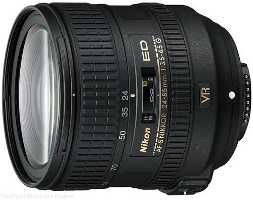 Nikon AF-S 24-85mm f/3.5-4.5G ED VR Lens - $399.00 (Compare at $596.95)
