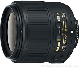 Nikon AF-S NIKKOR 35mm f/1.8G ED Lens Now In Stock at B&H