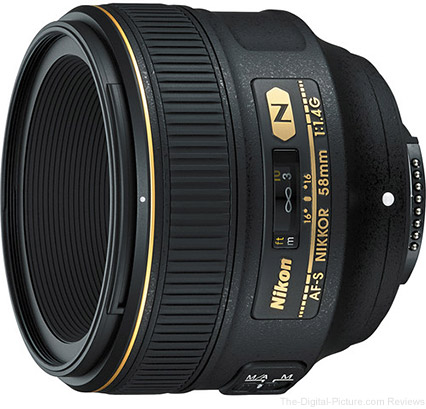 Nikon Announces AF-S NIKKOR 58mm f/1.4G Lens