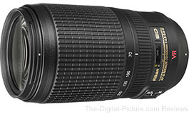 Refurbished Nikon AF-S NIKKOR 70-300mm f/4.5-5.6G VR IF-ED Lens - $319.00 (Compare at $586.95 New)