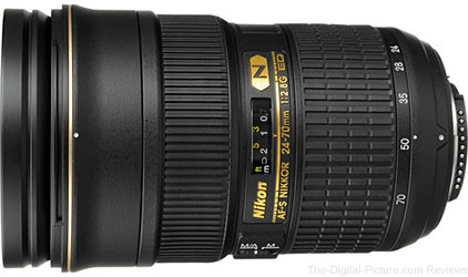Nikon AF-S NIKKOR 24-70mm f/2.8G ED Lens - $1,699.00 (Compare at $1,886.95)