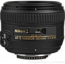 Nikon AF-S Nikkor 50mm f/1.4G Lens - $339.00 Shipped (Compare at $384.00)