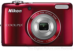 Refurbished Nikon COOLPIX L26 Digital Camera (Red) - $48.95 (Compare at $100.00 New)