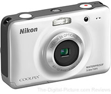 Refurbished Nikon COOLPIX S30 Waterproof Digital Camera (White) - $49.95 (Reg. $69.95)