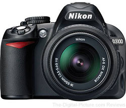Nikon D3100 DSLR Camera with 2 Lenses & Adobe Software Bundle - $496.95 (Reg. $716.95)