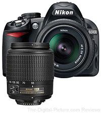 Nikon D3100 DSLR Camera with 18-55mm & 55-200mm NIKKOR DX Lenses - $496.95