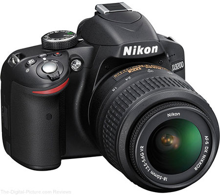 Nikon D3200 DSLR Camera w/18-55mm VR Lens - $349.00 Shipped (Compare at $496.95 New)