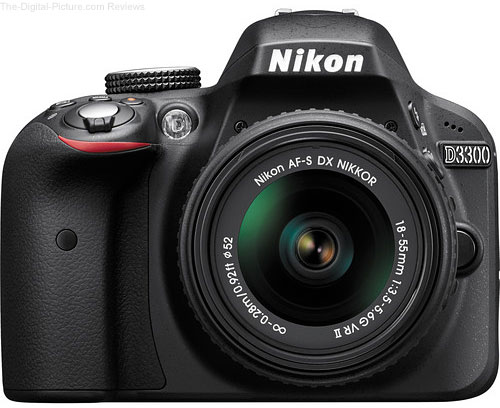 Refurbished Nikon D3300 D SLR with 18-55mm VR II Lens - $429.99 Shipped (Compare at $596.95 New)