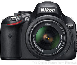 Nikon D5100 with 18-55mm VR Lens, Gadget Bag & 16GB Memory Card - $479.99
