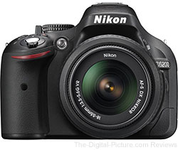 Nikon D5200 with 18-55mm VR Lens - $657.00 (Compare at $796.95)