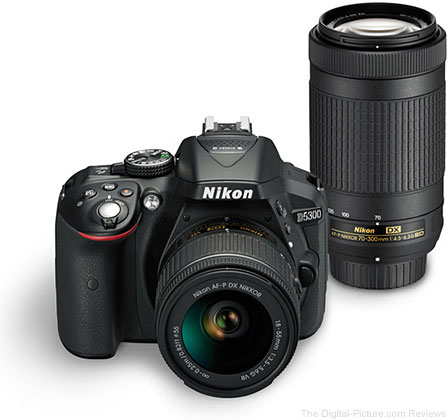 Nikon D5300 & D3400 Dual Lens Kits on Sale at B&H