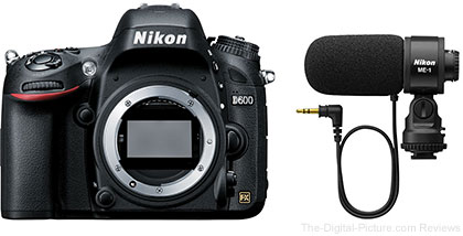 Nikon D600 DSLR Camera and Nikon ME-1 Stereo Microphone