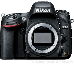 Refurbished Nikon D600 DSLR Camera - $1,325.00 Shipped (Compare at $1,896.95 New)