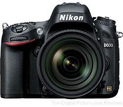 Nikon D600 DSLR with 24-85mm ED AF-S VR Lens