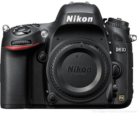 Nikon D610 DSLR Camera - $1,759.00 (Compare at $1,996.95)