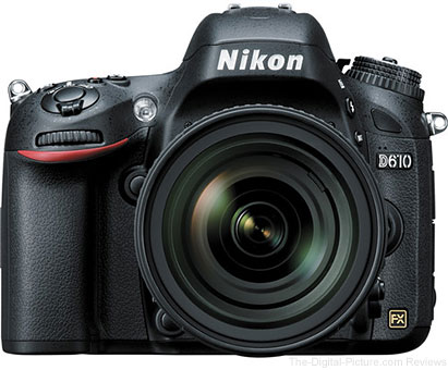 Nikon D610 DSLR with 24-85mm f/3.5-4.5G ED VR Lens - $2,049.00 (Compare at $2,496.95)
