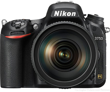 Nikon D750 DSLR Camera with AF-S NIKKOR 24-120mm f/4G ED VR Lens - $1,949.00 Shipped (Compare at $2,696.95)