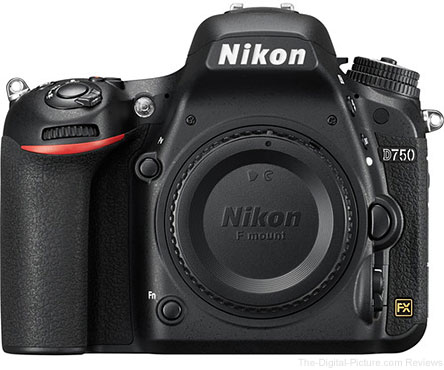 Nikon D750 DSLR Camera - $1,789.99 Shipped (Compare at $2,296.95)