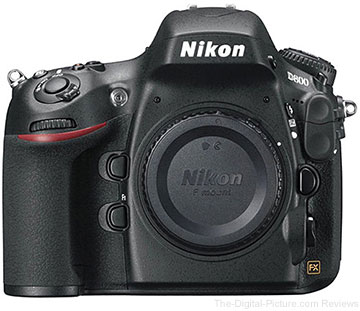 Refurbished Nikon D800 DSLR Camera - $1,999.00 Shipped (Compare at $2,796.95 New)