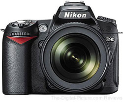 Hot Deal: Nikon D90 DSLR Camera Kit with AF-S DX NIKKOR 18-105mm f/3.5-5.6G ED VR Lens - $599.00 Shipped (Compare at $949.00)
