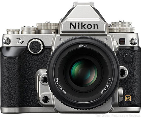 Nikon Df DSLR Camera with AF-S 50mm f/1.8G SE Lens (Silver)