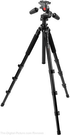 Oben AC-1451 4-Section Aluminum Tripod with PD-117 Pan/Tilt Head - $89.95 Shipped (Reg. $159.95)