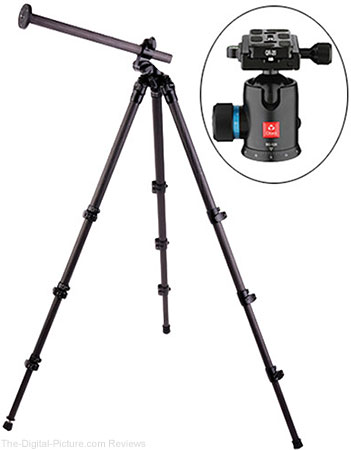 Save $230.00 on the Oben CC-2461L Carbon Fiber Lateral Tripod and Ball Head