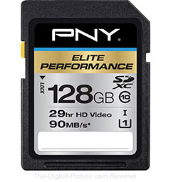 PNY 128GB Elite Performance SDXC Class 10 UHS-1 Memory Card - $69.95 Shipped