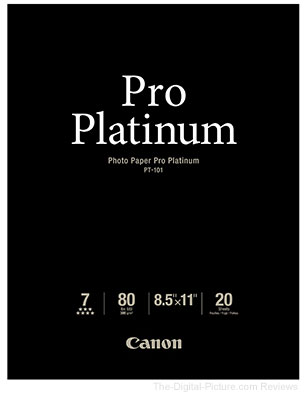 Canon Photo Paper Pro Platinum 8.5x11 (20 Sheets)