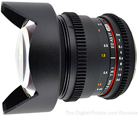 Lightning Deal: Rokinon 14mm t3.1 Cine Lens for Canon - $309.00 (Compare at $373.00)