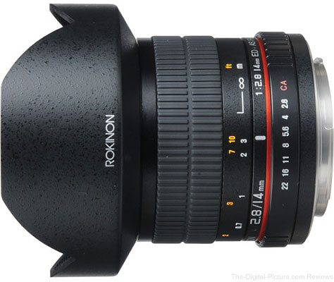 Rokinon 14mm f/2.8 IF ED MC Lens for Canon