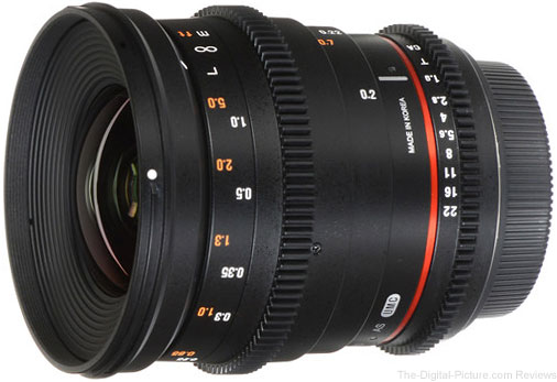 Rokinon 20mm T1.9 Cine DS Lens - $599.00 Shipped (Reg. $799.00)