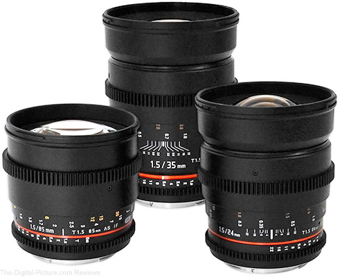 Rokinon 24/35/85mm T1.5 Cine Lens Bundle for Canon with Hard Case - $1,099.00 Shipped (Compare at $1,299.00)