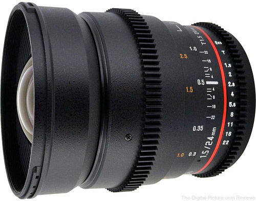 Rokinon 24mm T1.5 Declicked Aperture Cinema Prime Lens - $599.00 Shipped (Compare at $749.00)
