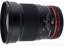 Rokinon 35mm f/1.4 Manual Lens - $335.00 Shipped (Compare at $429.00)