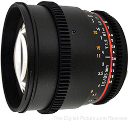 Rokinon 85mm T1.5 Aspherical Cine Lens