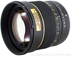 Rokinon 85mm f/1.4 Manual Lens - $249.00 Shipped (Compare at $299.00)