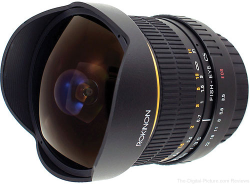 Rokinon 8mm f/3.5 Fisheye Manual Focus Lens - $229.00 (Reg. at $269.00)