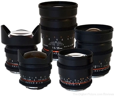 Rokinon Cine Lens Kit for Canon (5 Lenses) - $2,049.00 Shipped (Compare at $2,330.00)